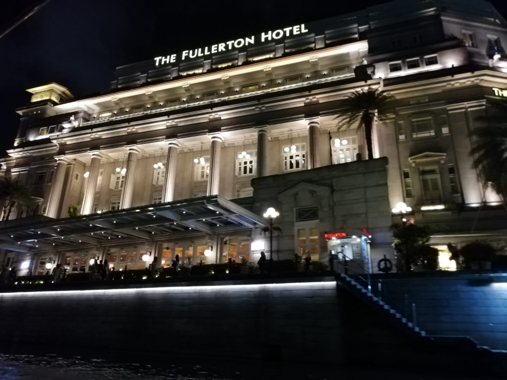 Fullerton Hotel Nighat view