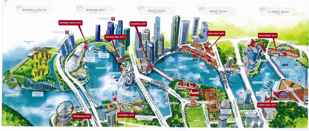 Singapore River Cruise MAP