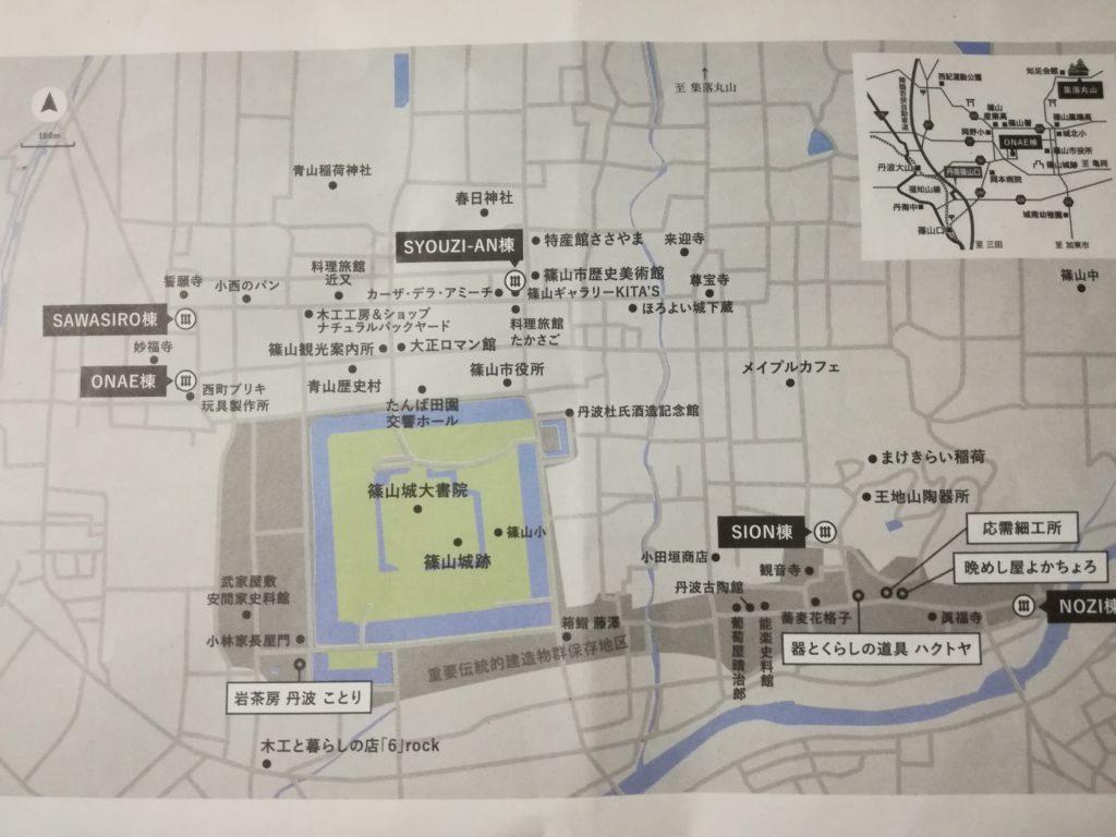 城下町の地図