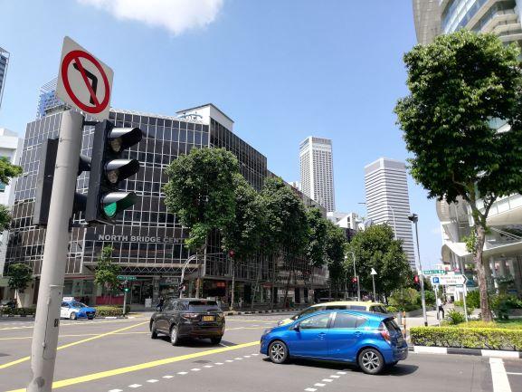 シンガポールの交差点