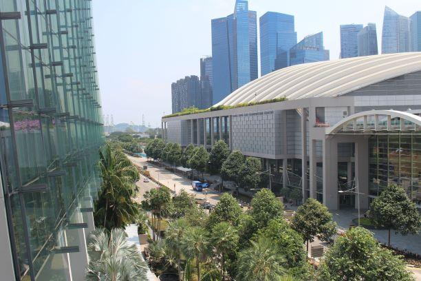 シンガポールの美しい町並み