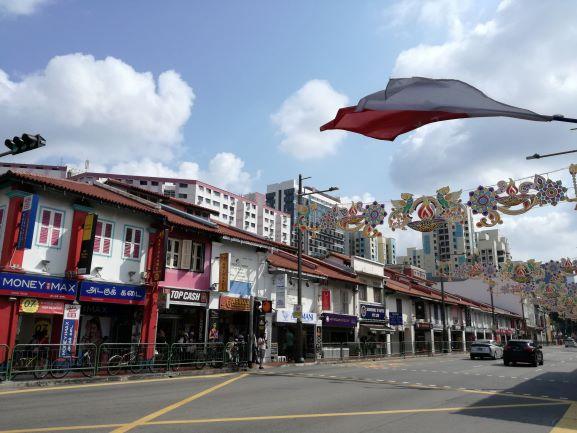 シンガポール・リトルインディアの町並み