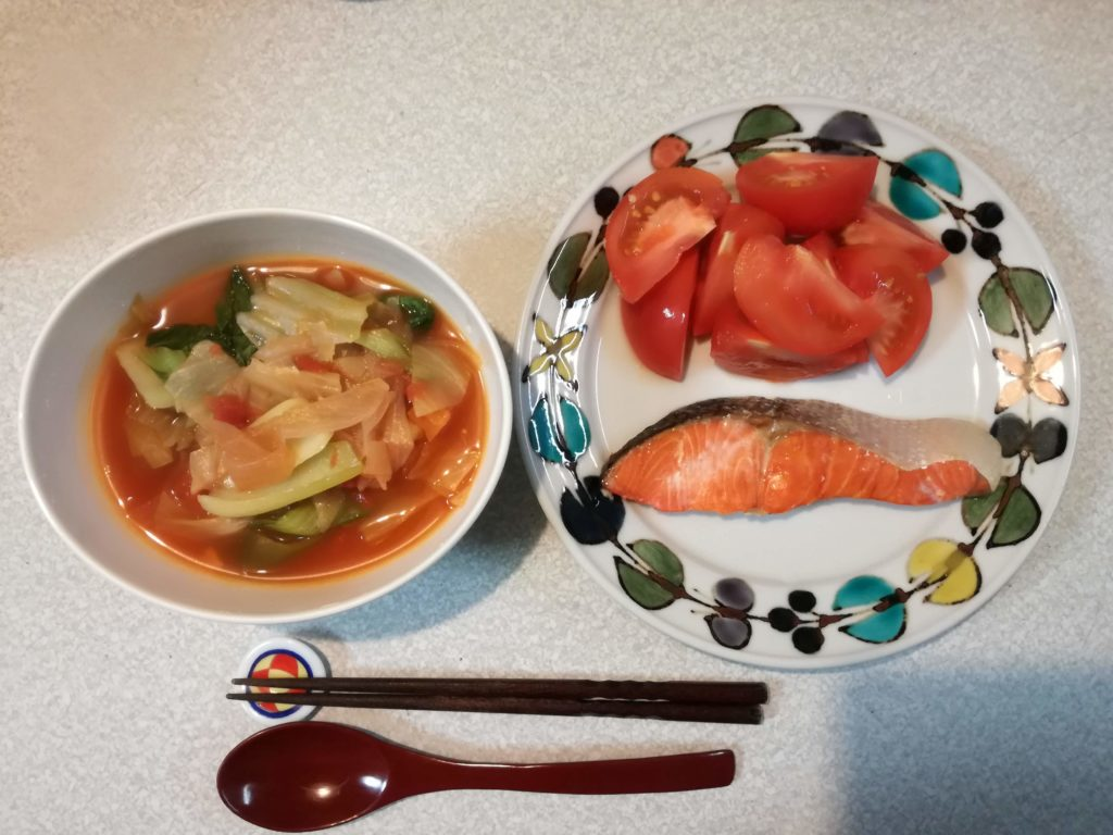 脂肪燃焼スープダイエットで食べたもの|5日目夕食