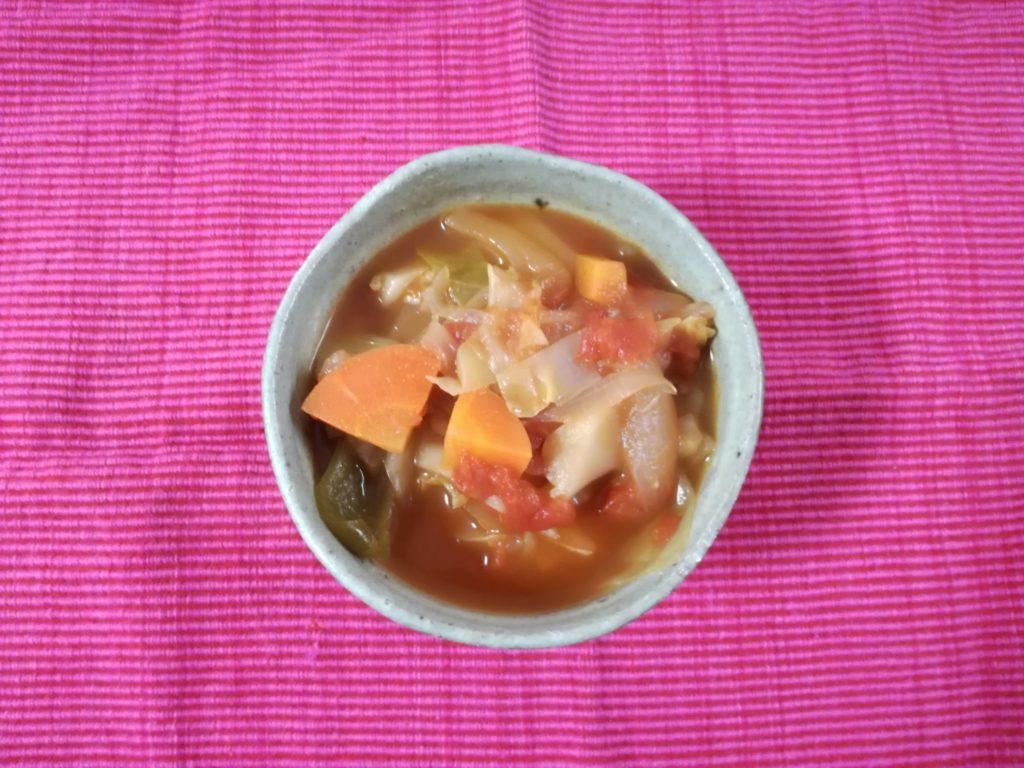 脂肪燃焼スープダイエットで食べたもの|6日目夕食
