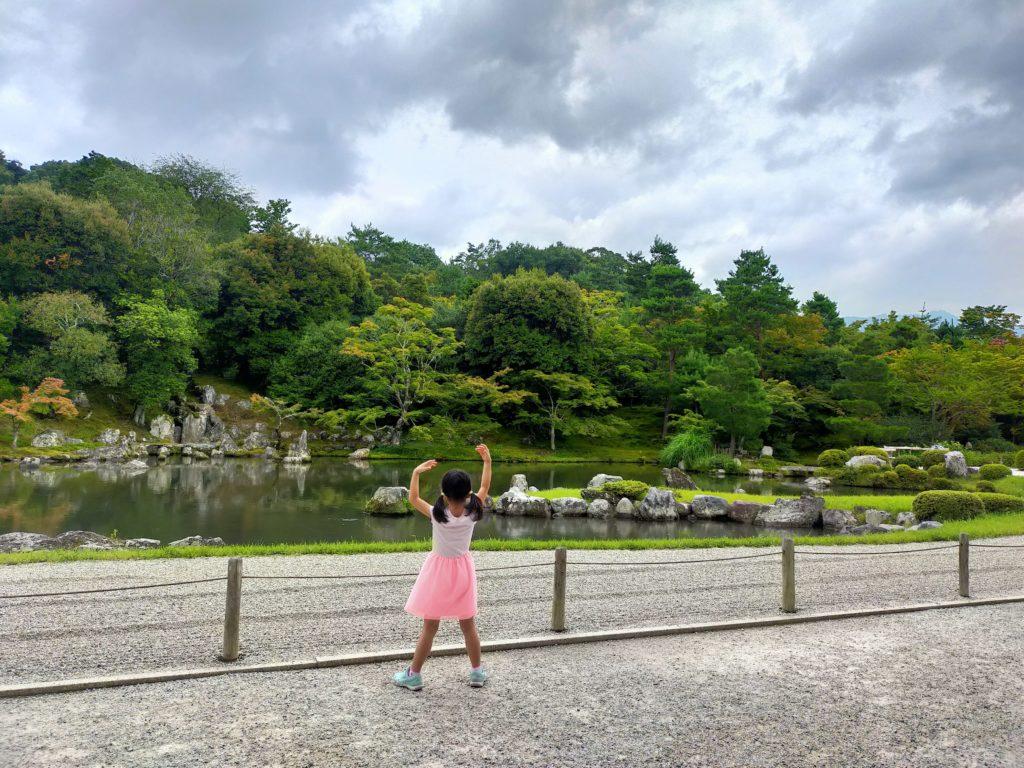 京都嵐山の天龍寺庭園