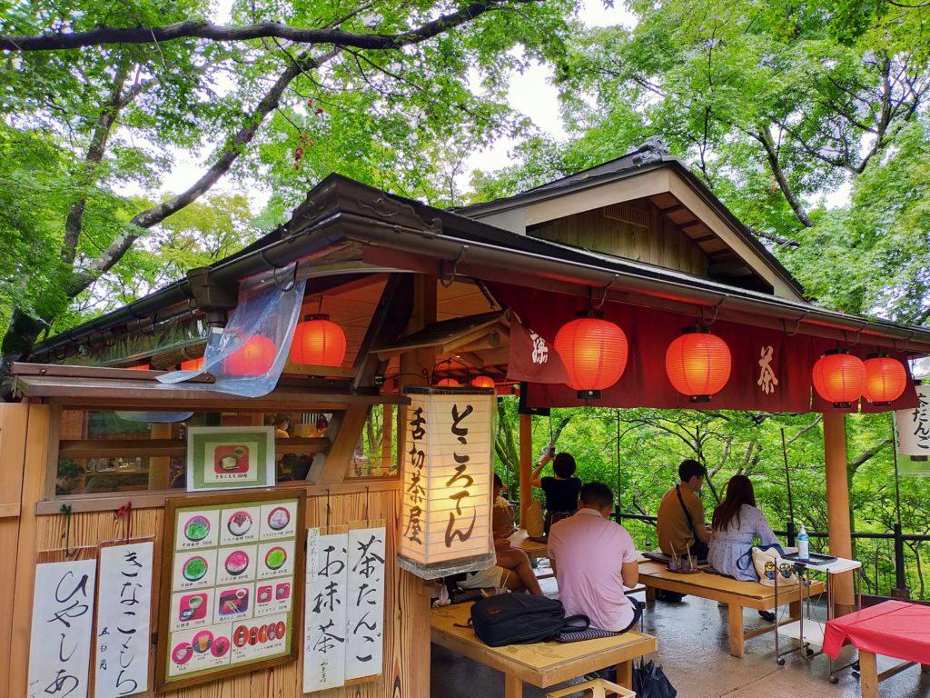 清水寺の境内のお茶屋さん