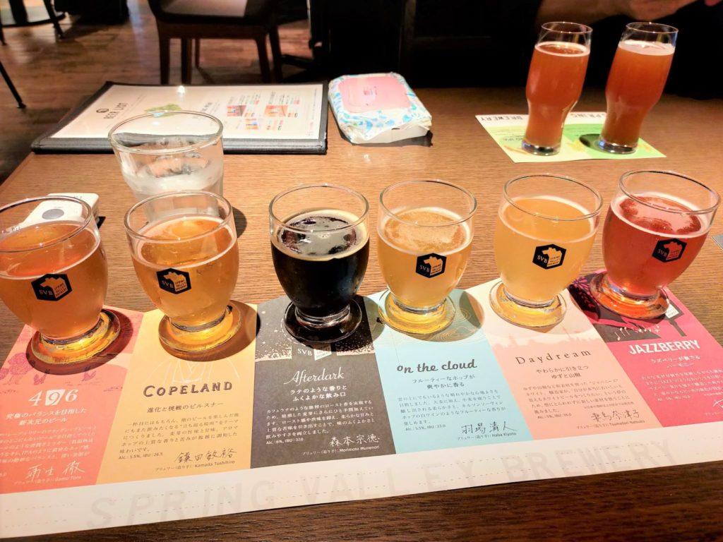 京都スプリングバレーブルワリーのビール6種飲み比べ
