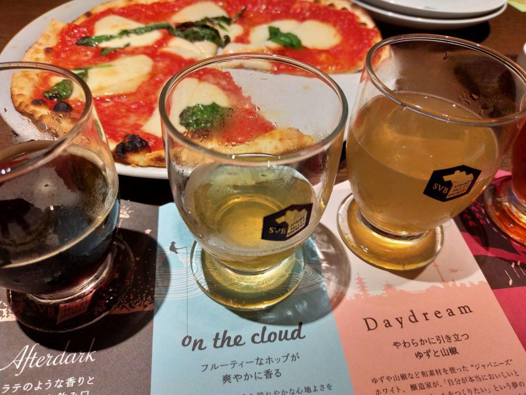 京都スプリングバレーブルワリーのお料理(ピザ・マルゲリータ)
