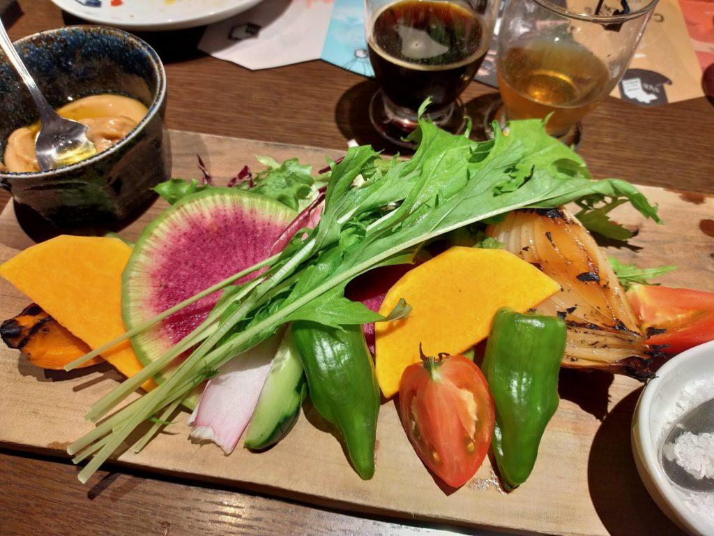 京都スプリングバレーブルワリーのお料理(京野菜のバーニャカウダ)