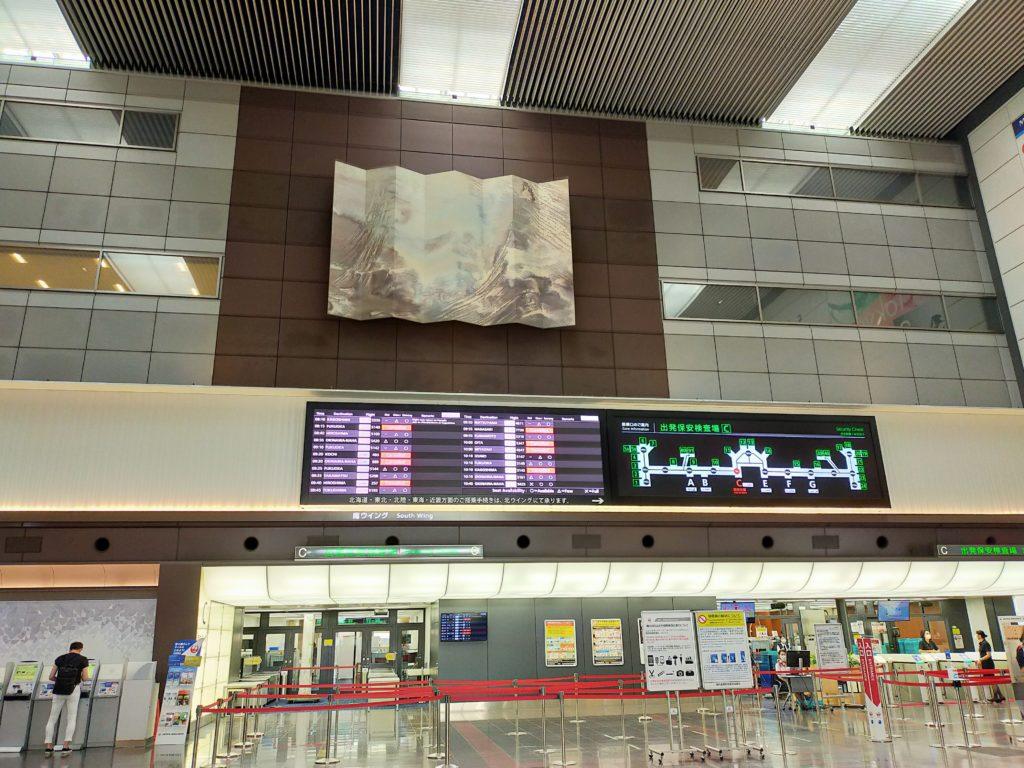 羽田空港出発ロビーの様子