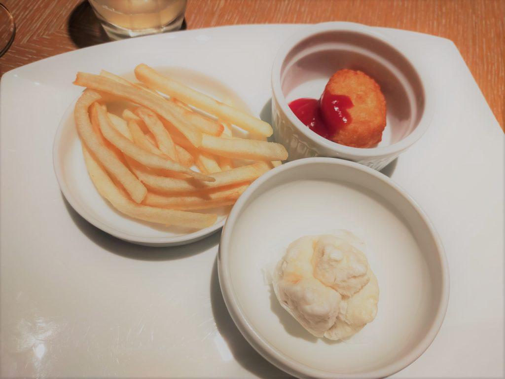 ヒルトン名古屋エグゼクティブラウンジの子供用軽食