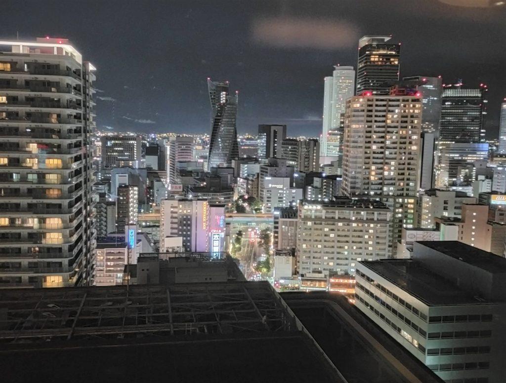 ヒルトン名古屋エグゼクティブフロアの部屋からの夜景