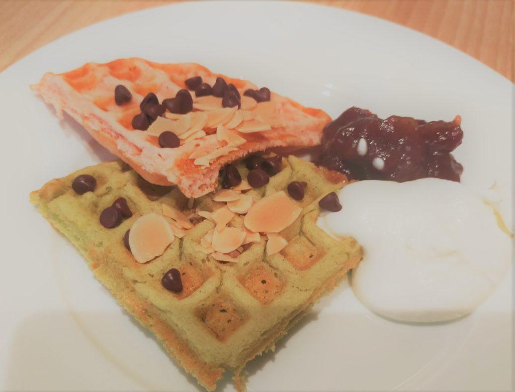 インプレイス3-3の朝食ビュッフェ(ワッフル)