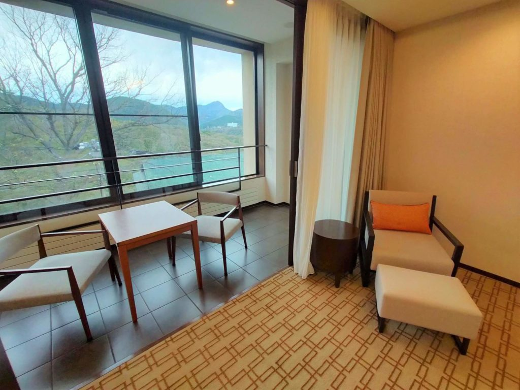ハイアットリージェンシー箱根のお部屋からの眺め