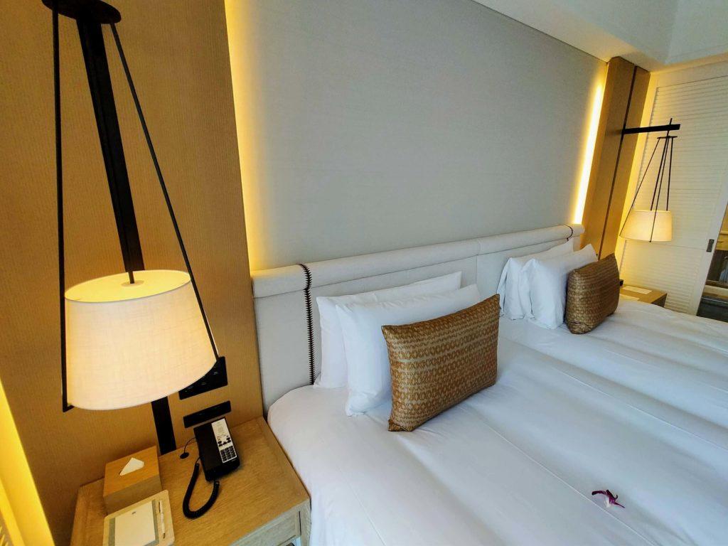 ハレクラニ沖縄 デラックスオーシャンビューのベッドルーム
