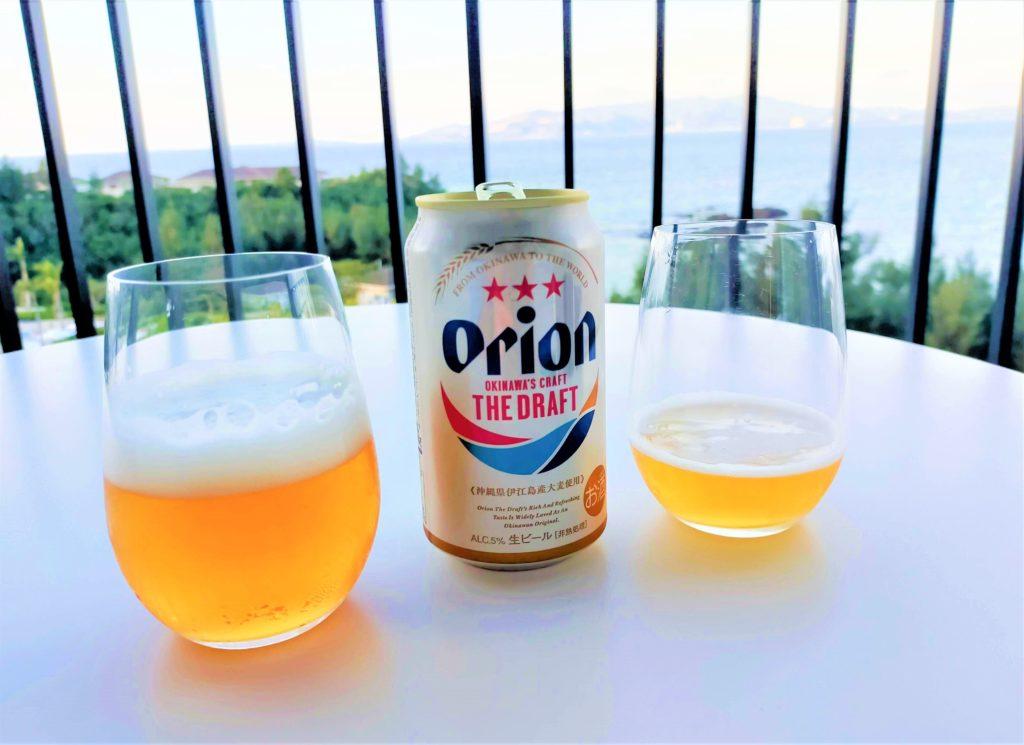 ハレクラニ沖縄のテラスで頂くオリオンビール