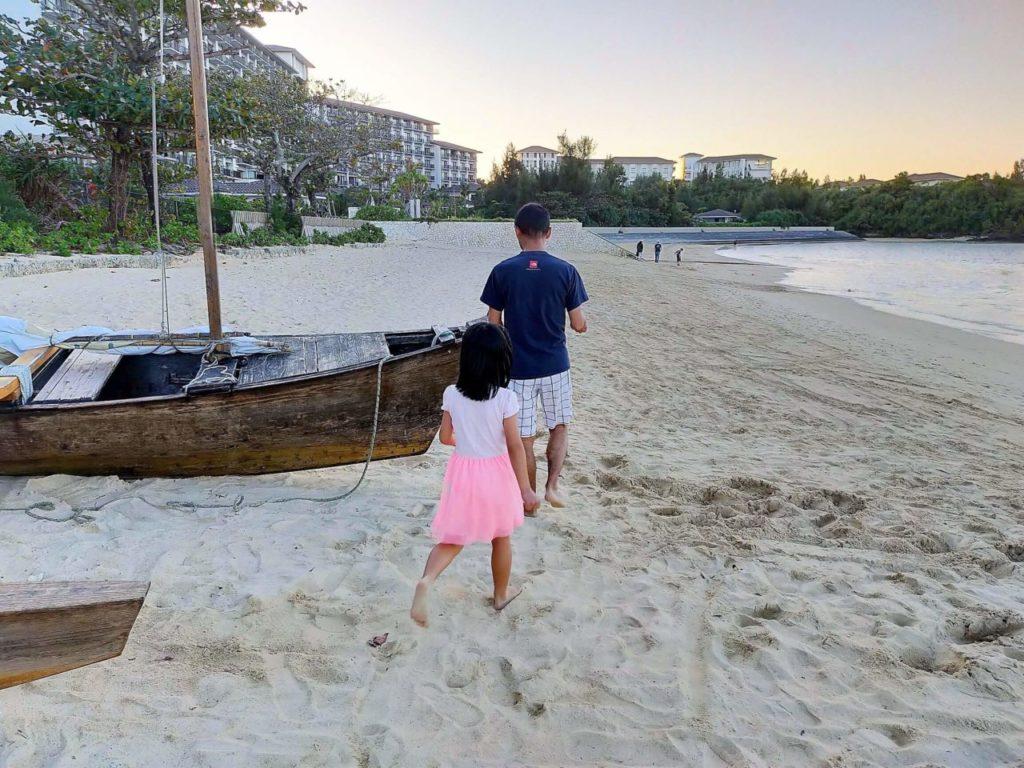 ハレクラニ沖縄のビーチは白砂