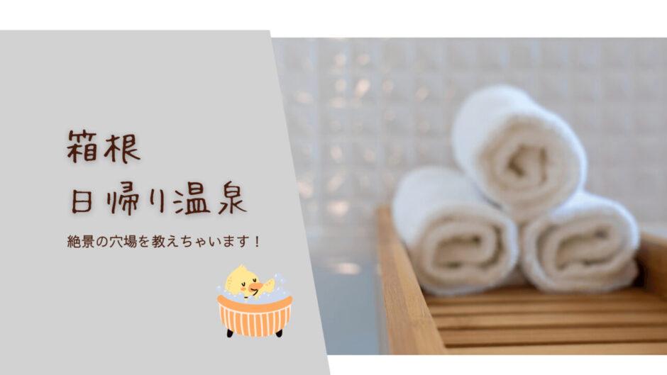 箱根日帰り温泉|龍宮殿本館 穴場を教えます!