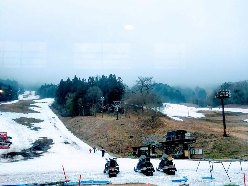 子供のスキーデビュー(ノルン水上スキー場)ゲレンデの様子