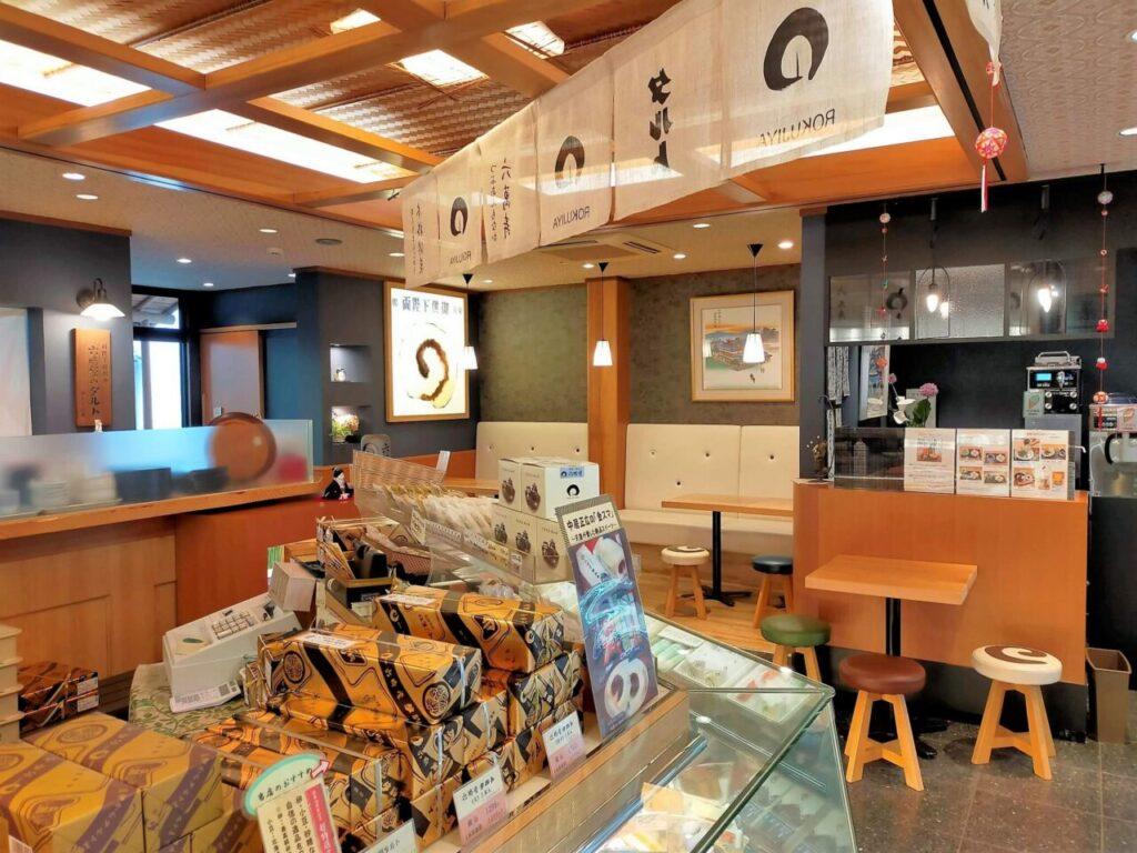 道後・松山の名物「六時屋タルト」の店内の様子