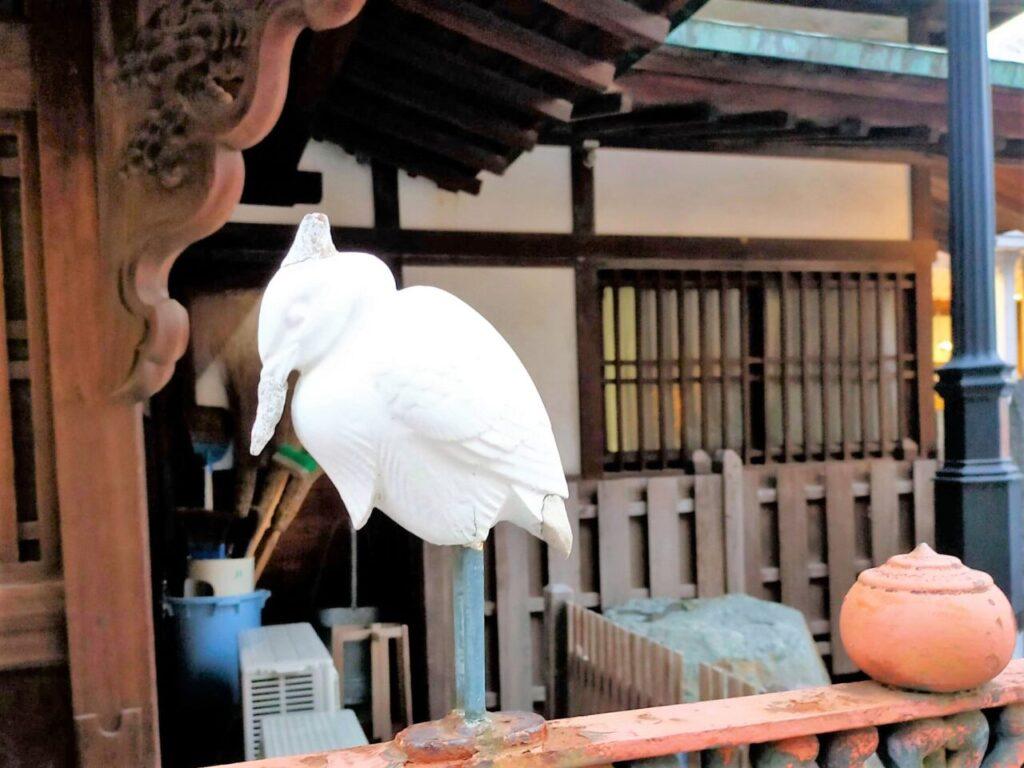 道後温泉の「白鷺伝説」に出てくる白鷺
