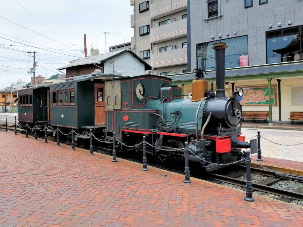 道後温泉と松山を結ぶ坊ちゃん列車の車体