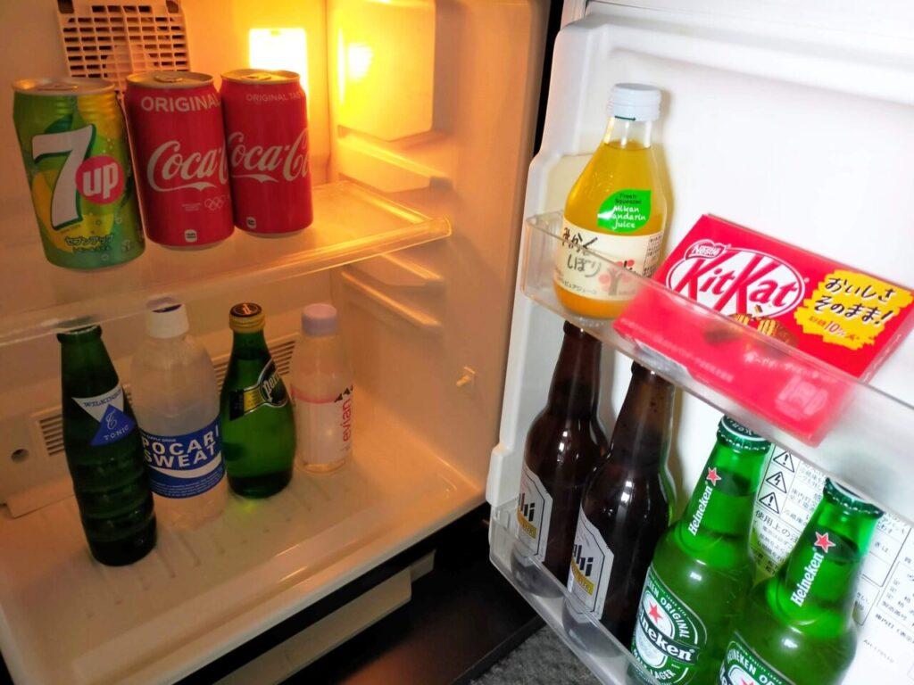 ハイアットリージェンシー大阪のリージェンシークラブルーム(冷蔵庫内)