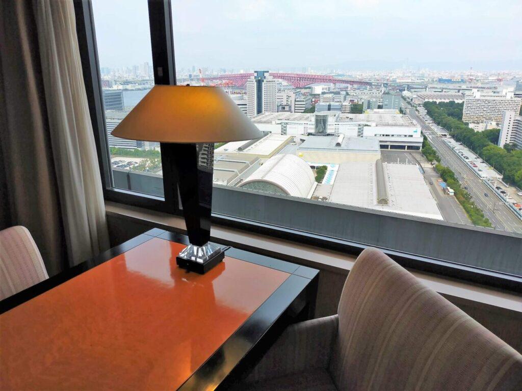 ハイアットリージェンシー大阪のリージェンシークラブルーム(26階からの眺め)